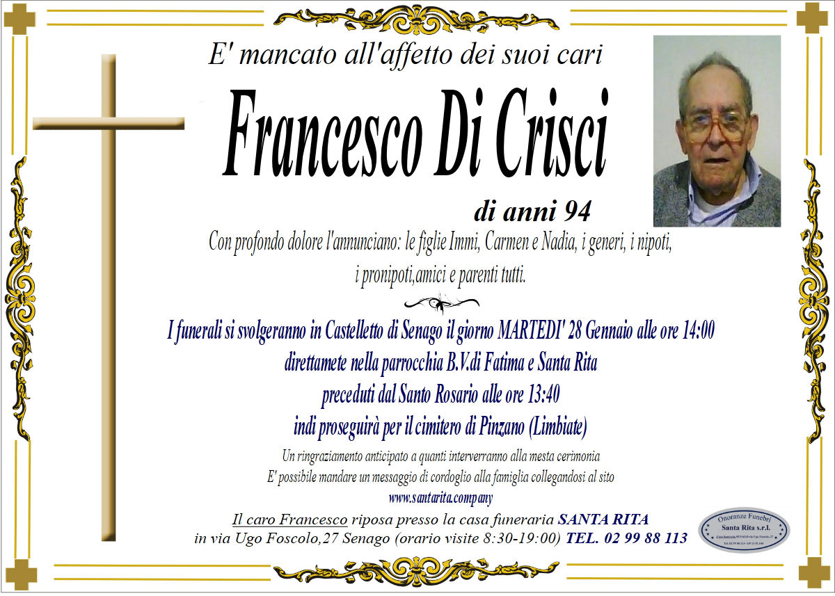 FRANCESCO DI CRISCI