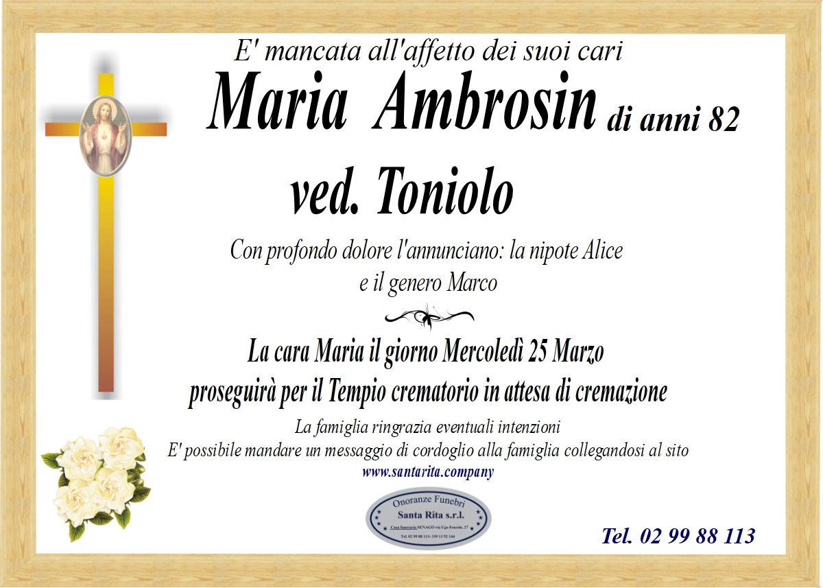 MARIA AMBROSIN