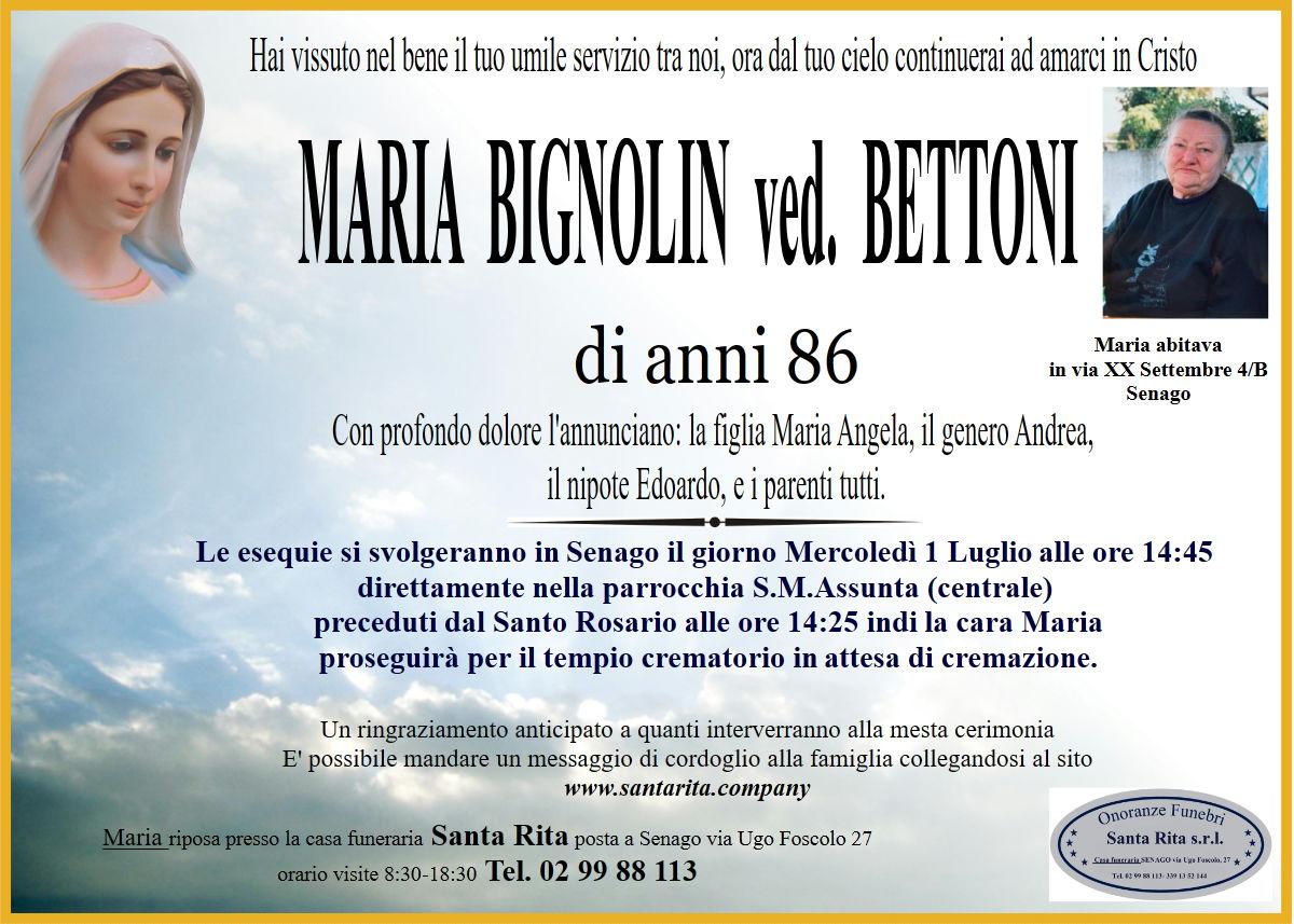 MARIA BIGNOLIN