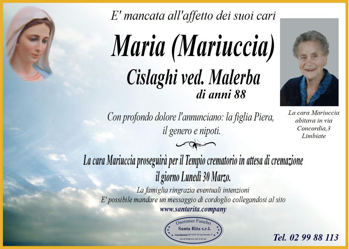 MARIA CISLAGHI