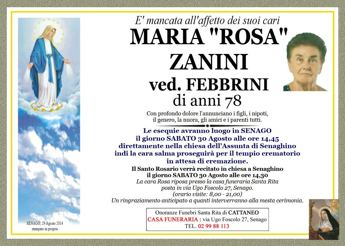 """Maria """"Rosa"""" Zanini"""