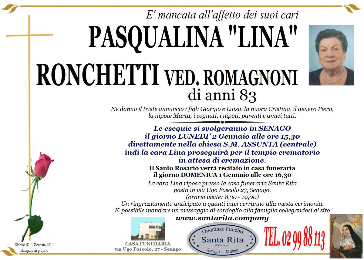 """Pasqualina """"Lina"""" Ronchetti"""