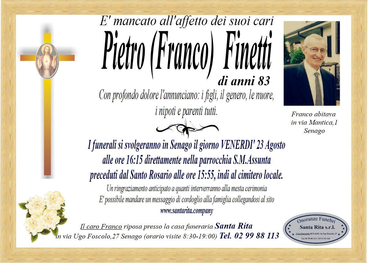 PIETRO (FRANCO) FINETTI
